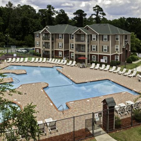 Cayce Cove sundeck, swimming pool and hot tub
