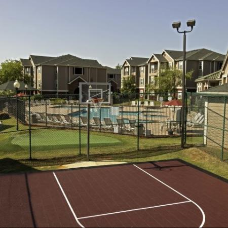 Outdoor basketball court at Cayce Cove