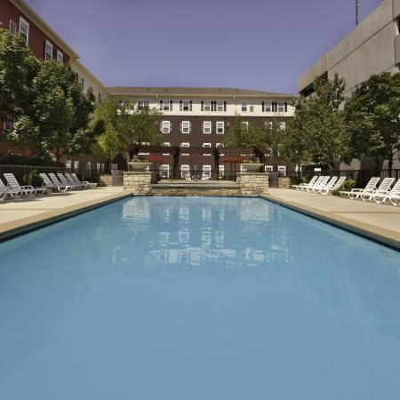 Resort-style pool at Commons on Kinnear