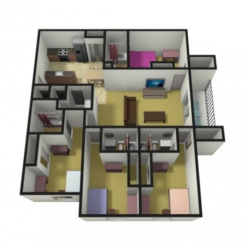 Four Bedroom Apartments near Miami University