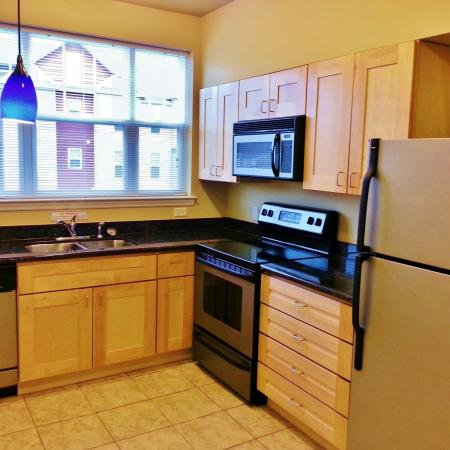 Elegant Kitchen | WVU Apartments | The Lofts