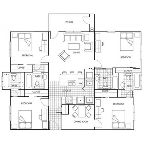 Three Bedroom | The Pavilion on 62nd