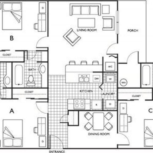 Two Bedroom | The Pavilion on 62nd