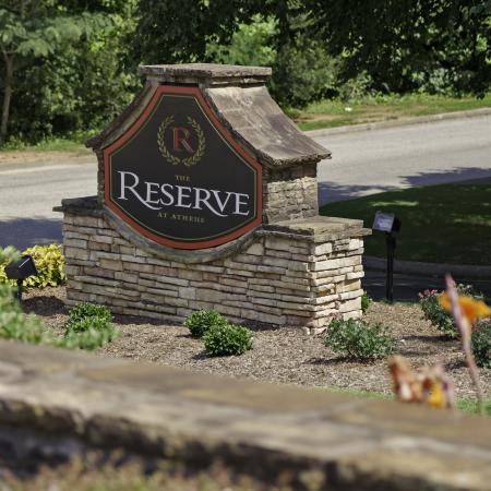 The Reserve at Athens entrance sign