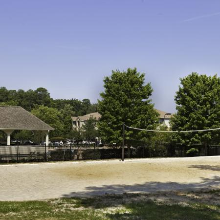 Sand volleyball court at The Reserve at Athens