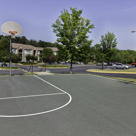 Sports court with basketball hoops at The Reserve at Athens