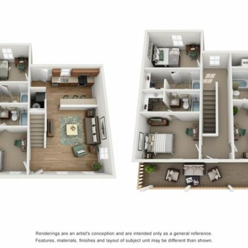 Floor Plan 4 | Studio Apartments Near UNM | Valley View Villas