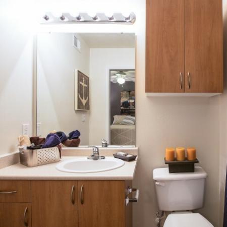 Spacious Bathroom   ECU Apartments   The Landing