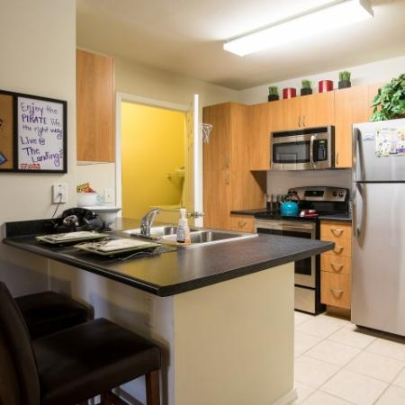 Spacious Kitchen | Apartments Near ECU | The Landing