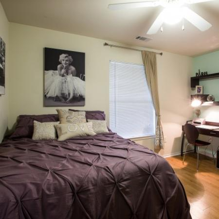 Elegant Bedroom | ECU Apartments | The Landing