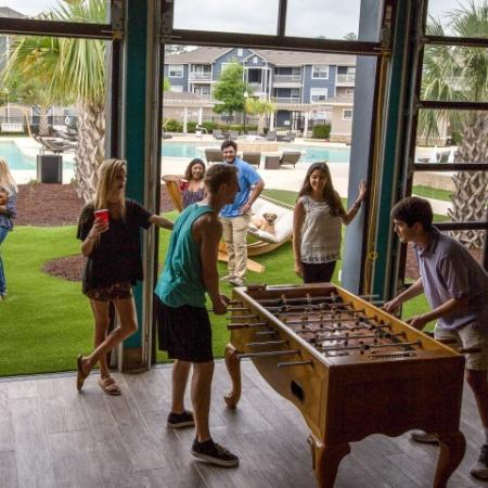 Resident Foosball Table | Apartments Near ECU | The Landing