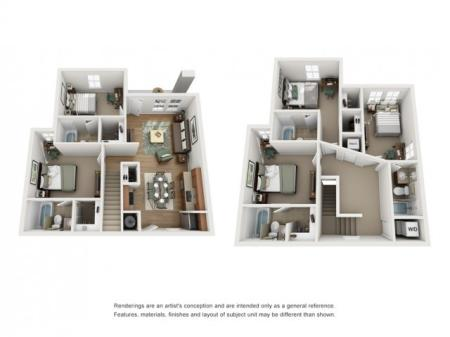 Floor Plan 5 | Off Campus Housing UNM | Valley View Villas