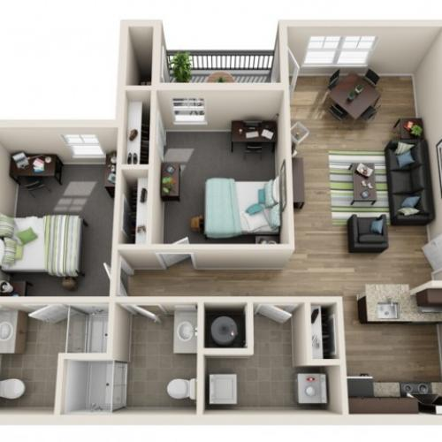 2 Bedroom | Reserve at Athens
