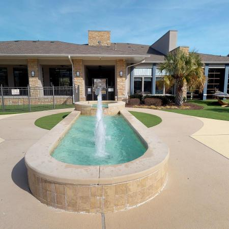 Flowing Fountain | ECU Apartments | The Landing