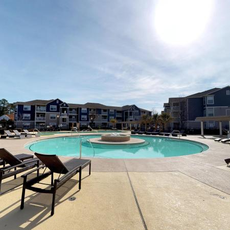 Sparkling Pool | Apartments Near ECU | The Landing