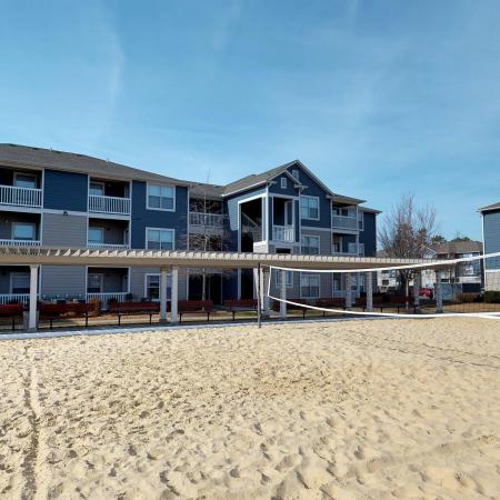 Sand Volleyball Court   Apartments Near ECU   The Landing