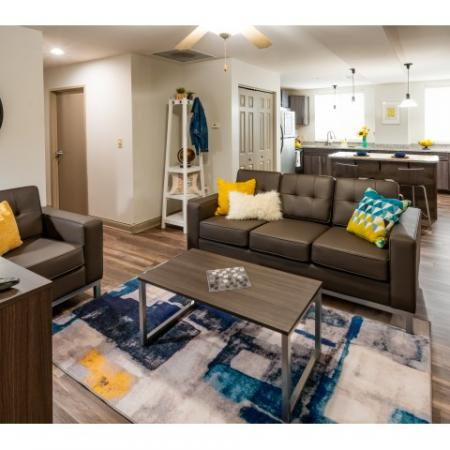Spacious Living Room | Apartments Near ISU Bloomington | The Avenue on College