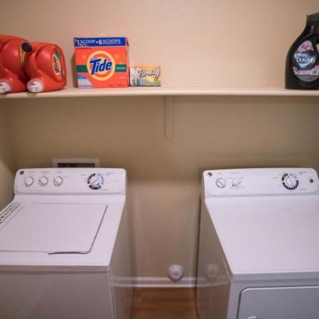 In-unit, full size washer and dryer at The Junction at Iron Horse
