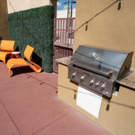 Outdoor grill at The Junction at Iron Horse