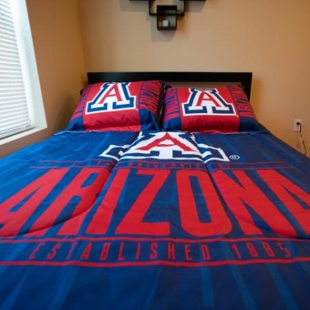 University of Arizona bedding at The Junction at Iron Horse