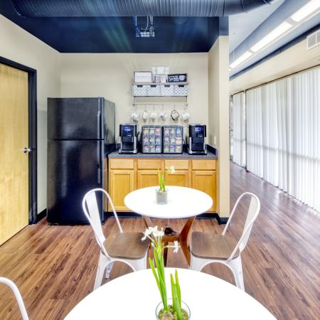 Clubhouse with Kitchen and Coffee Bar | South Duff Apartments near ISU