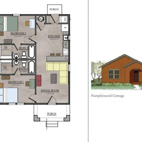 2 bedroom floor plan| The View ABQ