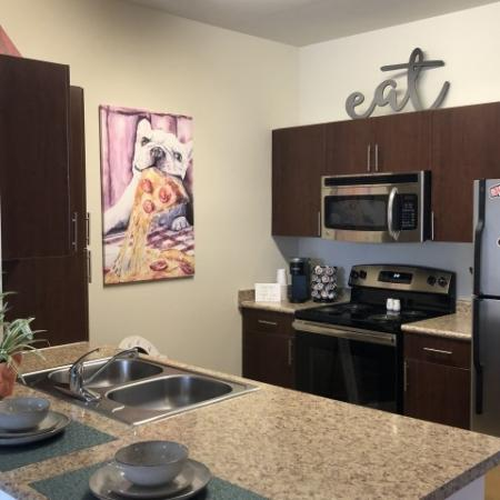 Kitchen | Student Apartments Near UGA | The Connection at Athens