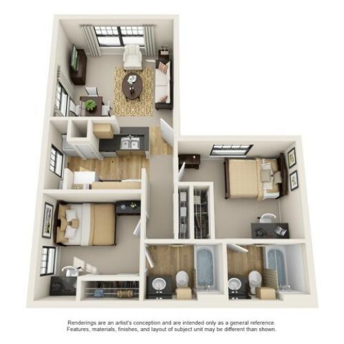 2 bedroom apartment baton rouge