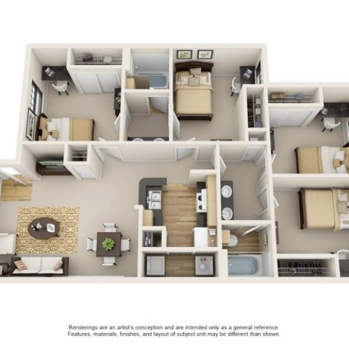 4 bedroom apartment in baton rouge