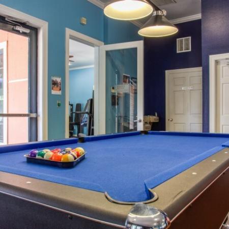 pool table brightside apartments