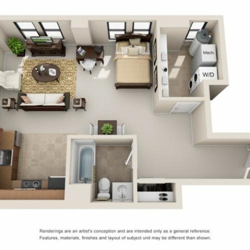 studio apartments in columbus ohio