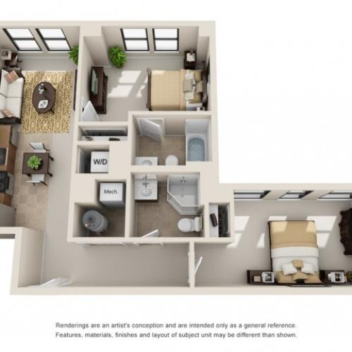 two bedroom apartments in columbus ohio