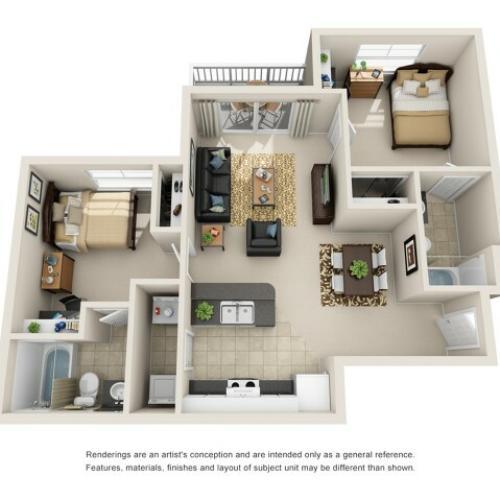 2 bedroom apartments near ncsu