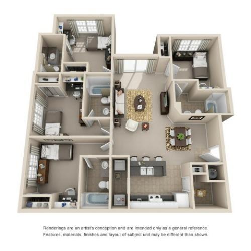 4 bedroom apartment athens ga