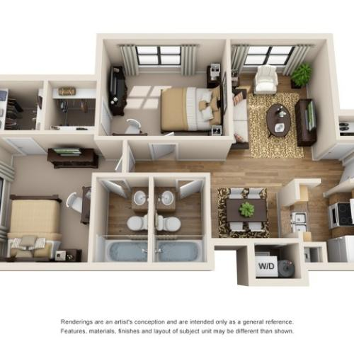 2 bedroom apartment college station