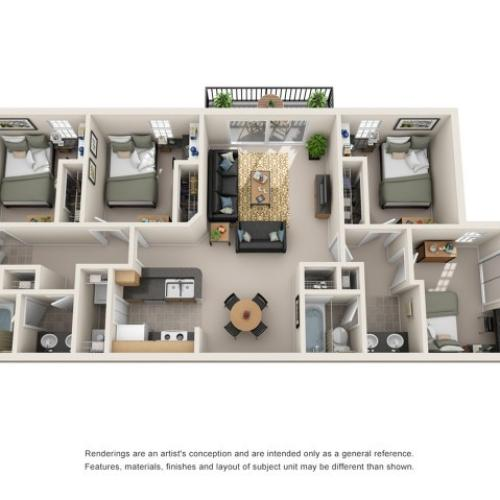 4 bedroom apartment fort collins