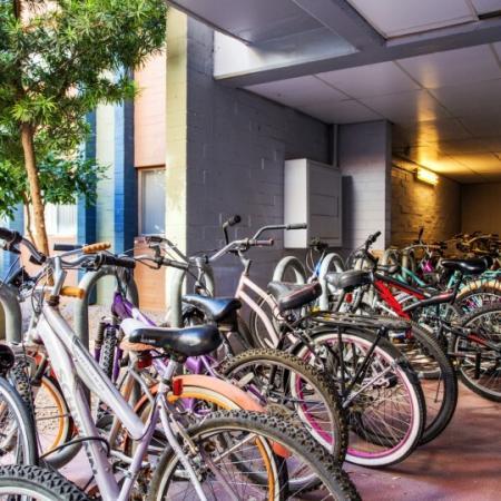 bike rack student housing in tucson