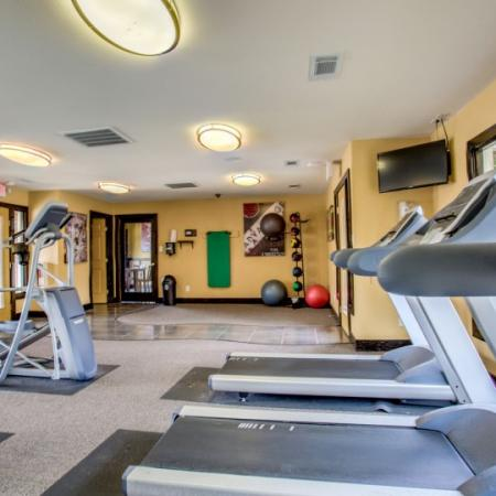 fitness center at college station apartments