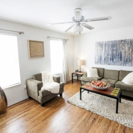living room at college apartment in orlando