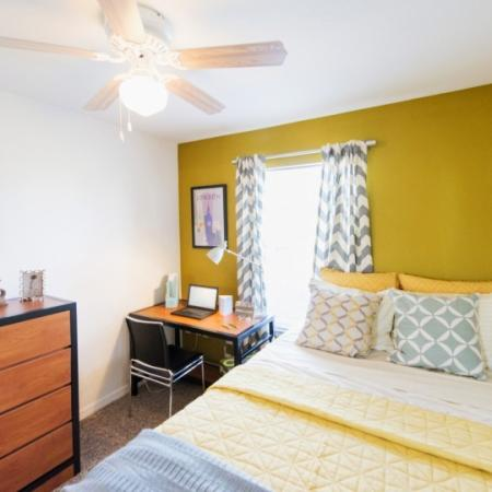 bedroom at student apartment in orlando