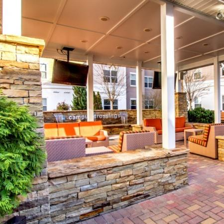 resident outdoor lounge briar cliff apartment
