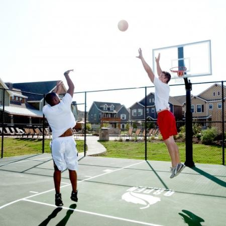 basketball court at the village on telluride
