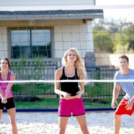 volleyball court at san marcos housing complex