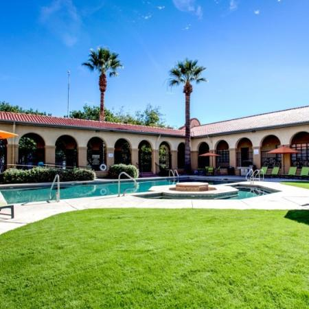 pool area at student apartments in tucson