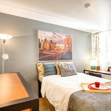 bedroom at tucson az student housing complex