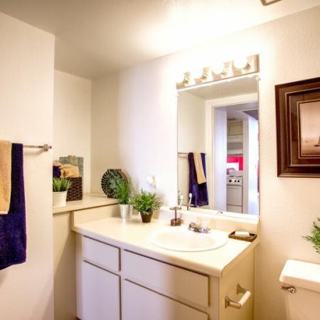 bathroom at student apartment in tucson az