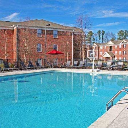 pool at durham apartment rental property