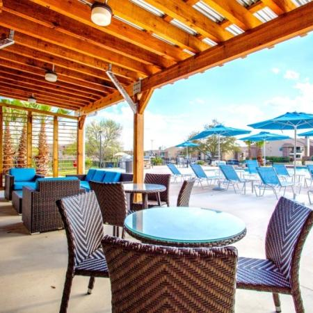 cabanas at student living pool marion pugh