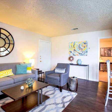 living room student apartment college station