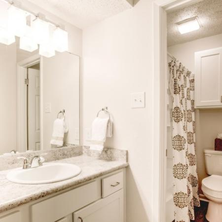 bathroom at student housing marion pugh